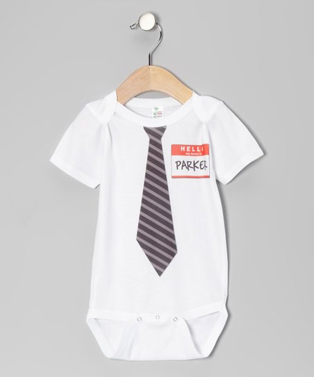 White New Guy Personalized Bodysuit - Infant