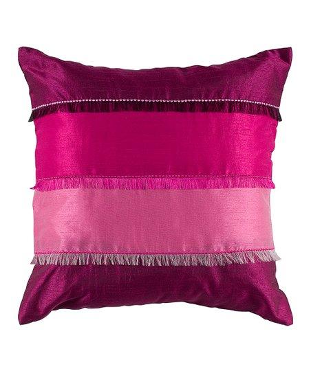 Fuchsia Fringe Throw Pillow