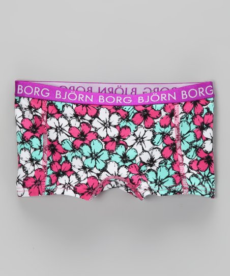 Bjrn Borg Purple Flower Shower Underwear - Toddler &amp; Girls