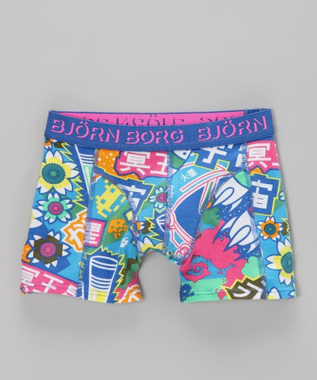 Björn Borg Blue Culture Clash Boxer Briefs - Toddler & Boys