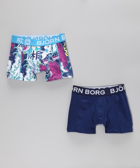 Björn Borg Blue Kuma Toride Boxer Briefs Set - Toddler & Boys