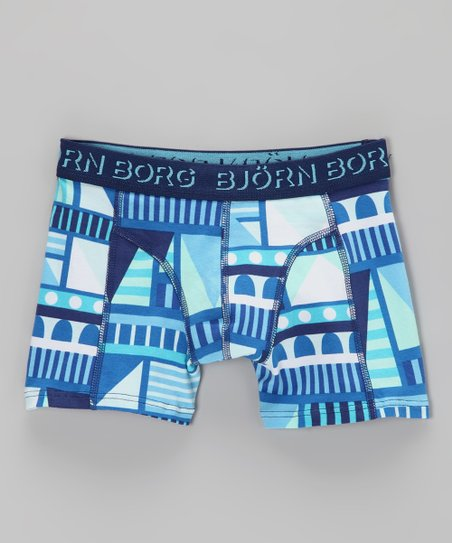 Björn Borg Blue Geometric Boxer Briefs - Toddler & Boys