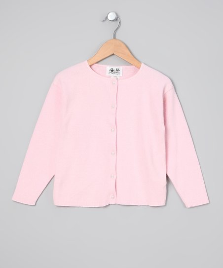 fingerprints Pink Cardigan - Girls