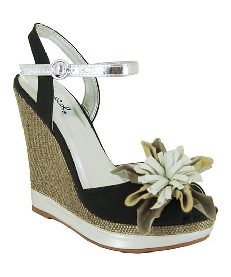 Black Enrich Wedge Sandal