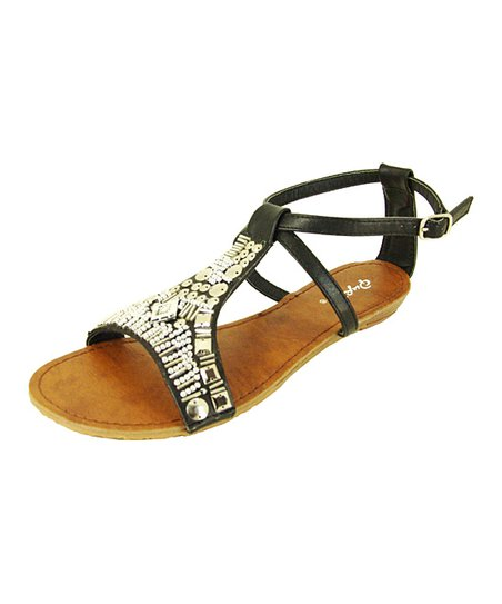 Black Gleam Sandal
