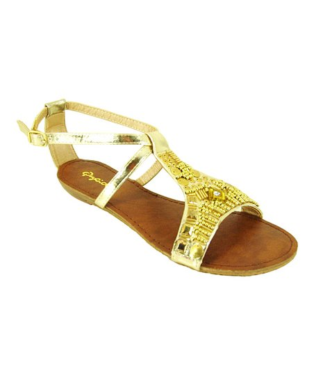 Gold Gleam Sandal