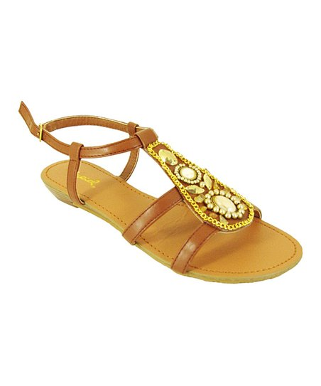 Brown Gleam Strap Sandal