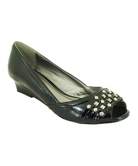 Black Crinkle Success Wedge