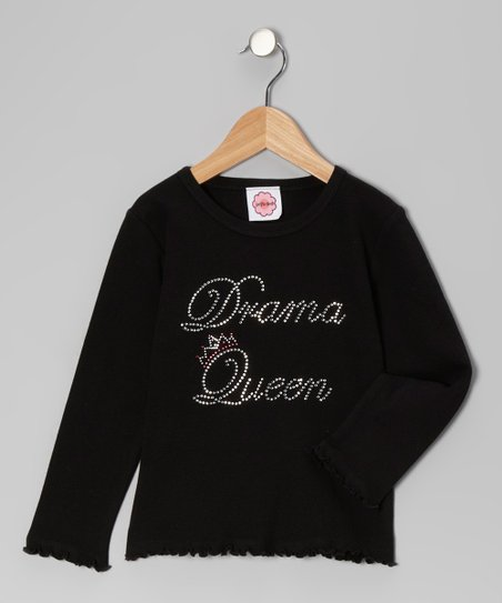 Black 'Drama Queen' Tee - Toddler & Girls