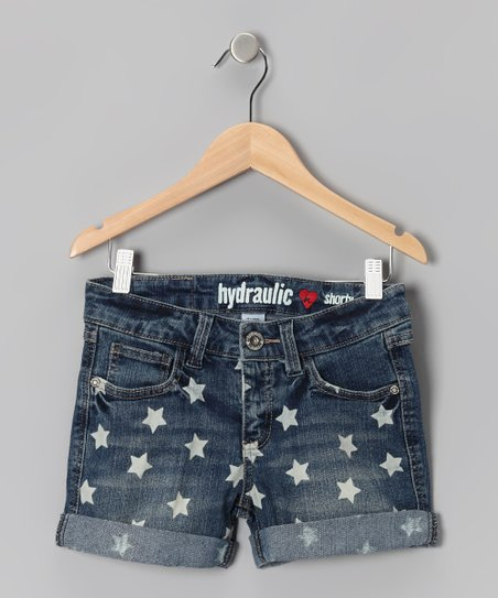 Medium-Wash Star Shorts