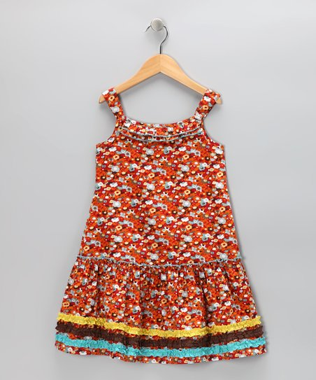 Orange Poppy Sundress - Toddler & Girls