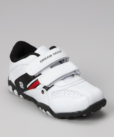 Dream Seek White & Black Strap Sneaker