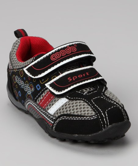 Dream Seek Gray & Red Stripe Sneaker