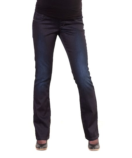 Dark Wash Maternity Straight-Leg Jeans