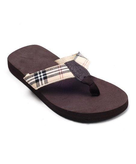 Madras Khaki Plaid Bop 56 Flip-Flop - Women
