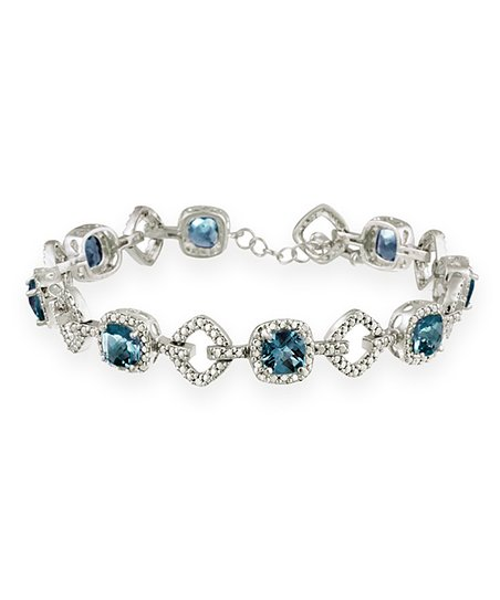 London Blue Topaz &amp; Sterling Silver Bracelet