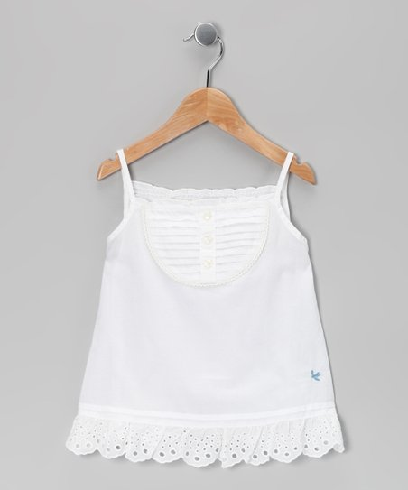 White Eyelet Camisole - Girls