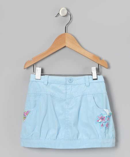 Turquoise Flower Skirt - Girls