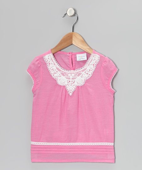 Pink Lace Top - Girls