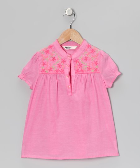Pink Swirl Flower Top - Infant, Toddler & Girls