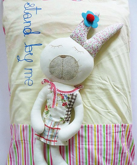 Sleeping Rabbit PlushToy & 'Stand By Me' Pillowcase