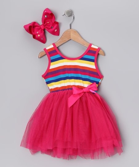 Fuchsia Stripe Tutu Dress - Infant & Toddler