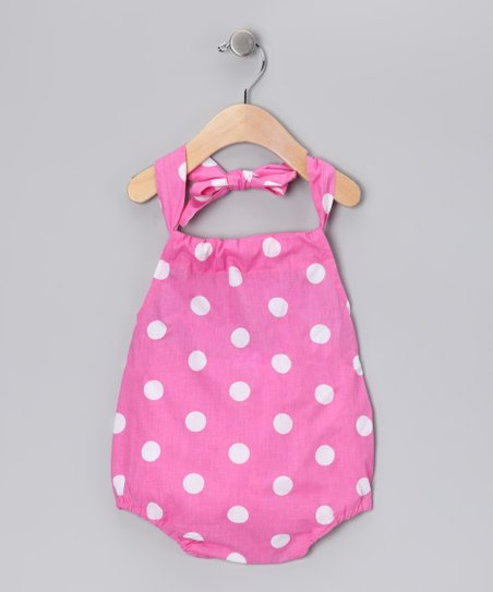 Light Pink Polka Dot Romper - Infant & Toddler