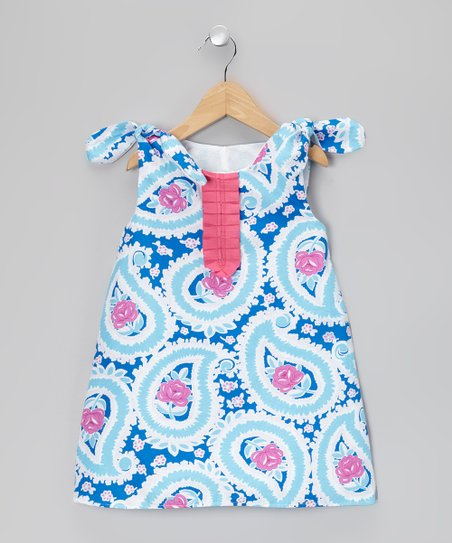 Blue Paisley Dress - Toddler & Girls