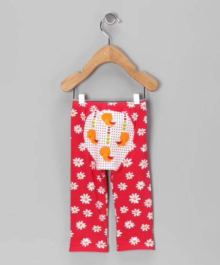 Red Daisy Tweet Tweet Pants - Infant & Toddler