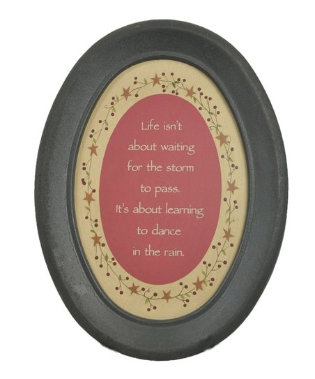 &#039;Dance In the Rain&#039; Oval Wall Art