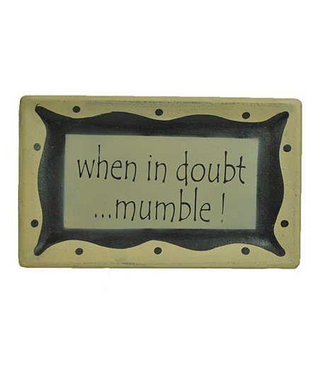 'Mumble' Tray Wall Art