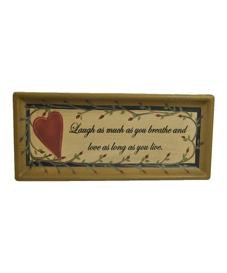 'Laugh and Love' Tray Wall Art