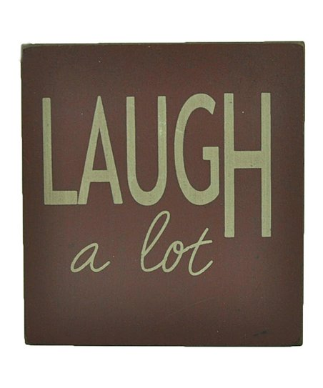 Red &#039;Laugh a Lot&#039; Wall Art