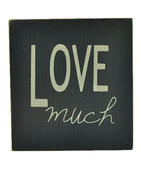 Blue 'Love Much' Wall Art