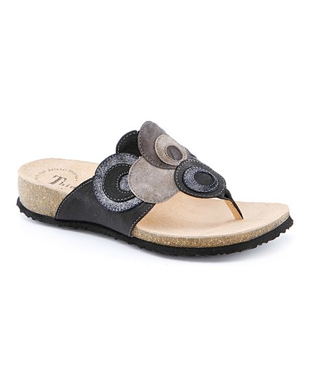 Black & Kombi Julia Sandal