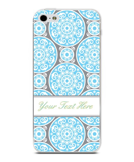 Blue Circle Classic Elegant Personalized Case for iPhone 4/4S