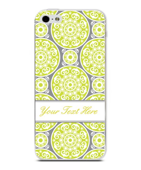 Green Circle Classic Elegant Personalized Case for iPhone 5