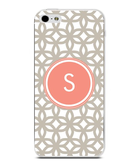 Tangerine Flower Initial Case for iPhone 4/4S