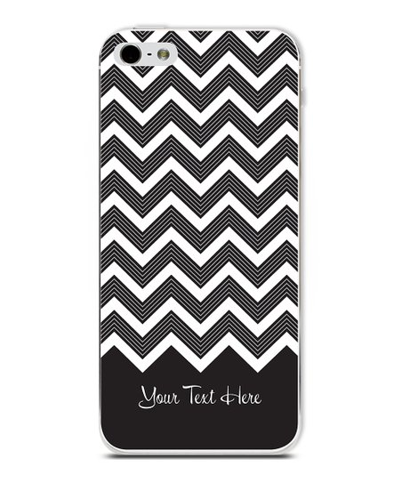 Black Chevron Personalized Case for iPhone 5