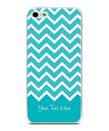 Blue Chevron Personalized Case for iPhone 4/4S