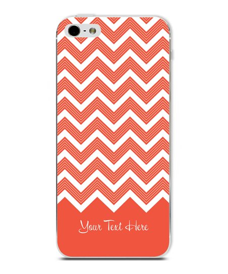 Tangerine Chevron Personalized Case for iPhone 5