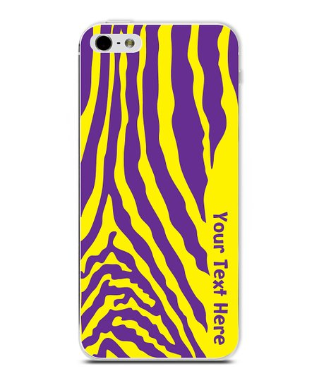 Purple & Yellow Zebra Personalized Case for iPhone 4/4S