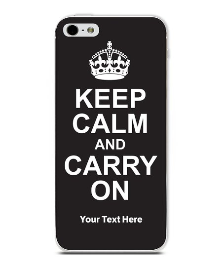Black 'Keep Calm' Personalized Case for iPhone 5
