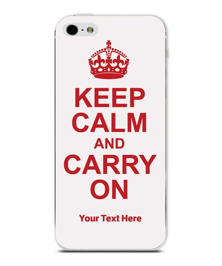 White 'Keep Calm' Personalized Case for iPhone 5