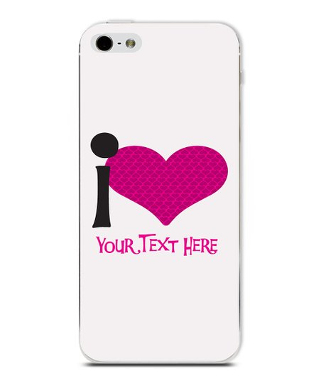 'I Heart' Personalized Case for iPhone 5