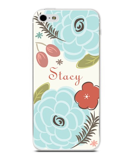 Blue Flower Personalized Case for iPhone 4/4S
