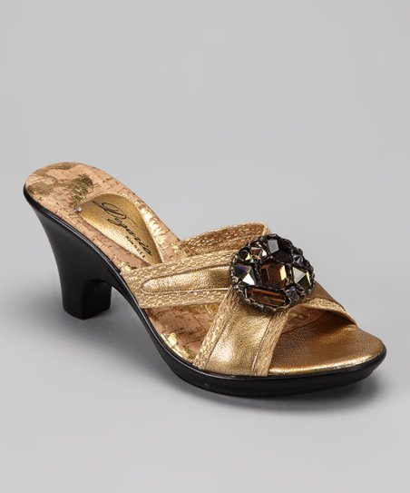 Gold Mink Sandal