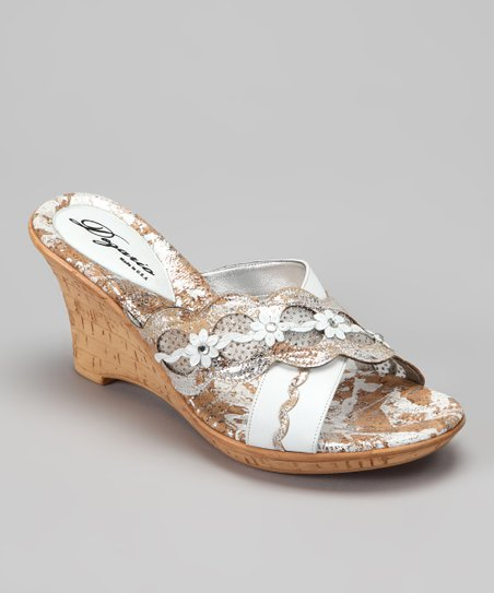 White Aria Wedge Sandal