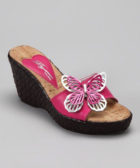 Fuchsia Fly Wedge Slide