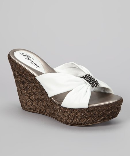 White Tina Wedge